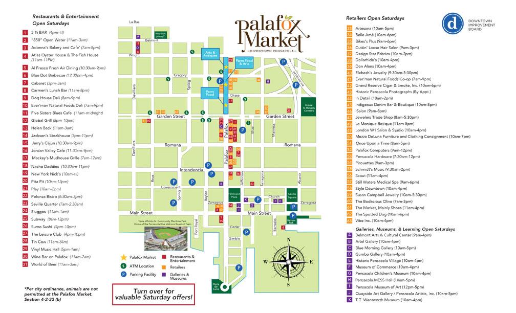 Palafox Market Map